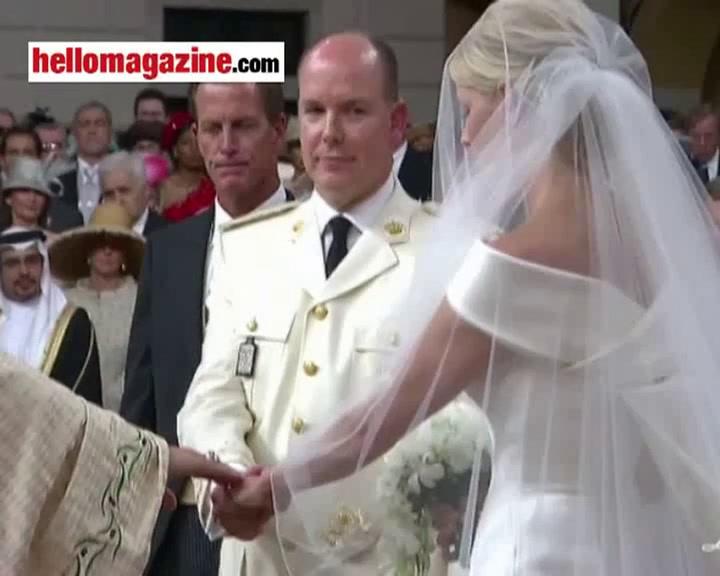 Prince Albert and Princess Charlene say, \
