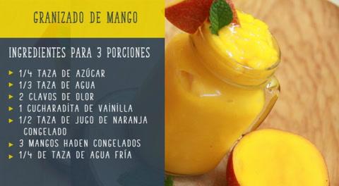 Cocinando con Mayte: Granizado de mango