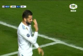 Nacho anota el 3 - 0 del Real Madrid ante el Apoel