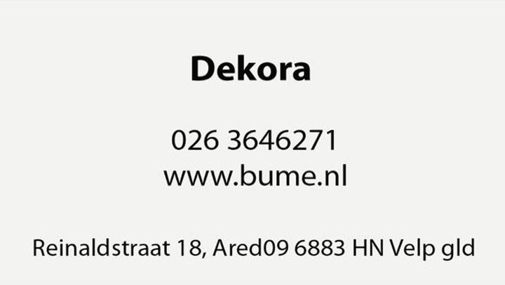 Dekora BV Rioolontstoppingsservice - Video tour