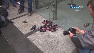 İpek Medya çalışanları Digitürk'ü protesto etti