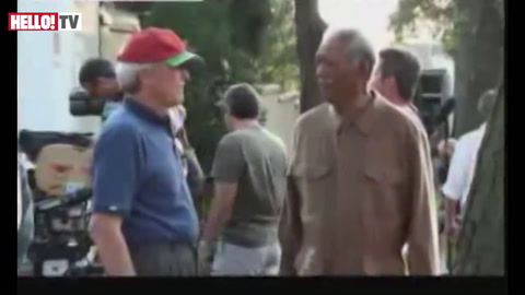 Morgan Freeman on who he thinks will win the leading man Oscar