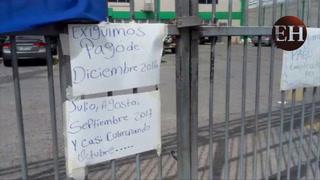 Empleados del RNP se toman las instalaciones por la falta de pagos desde el mes de DiciembreEmpleados del RNP se toman las instalaciones por la falta de pagos