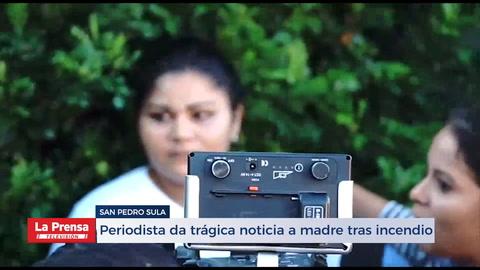 Dramático: Madre se entera que sus hijos fallecieron en incendio