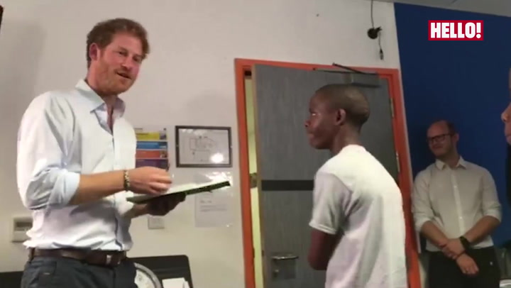 Prince Harry is reunited with Mutsu from Lesotho