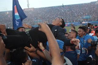 La eufórica celebración de Diego Vázquez en la conquista del bicampeonato