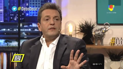 Massa dijo que Cristina es el pasado de la Argentina expresado en opiniones