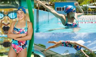 Sirena hondureña sueña con triunfar en el Mundial júnior de natación