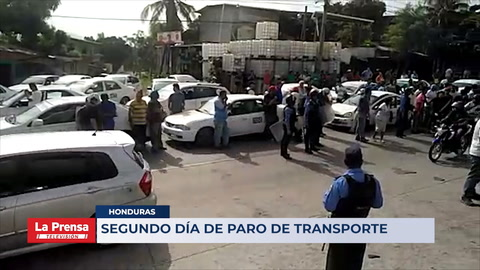 Honduras: Segundo día de paro del transporte
