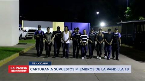 Capturan a seis supuestos miembros de la Pandilla 18