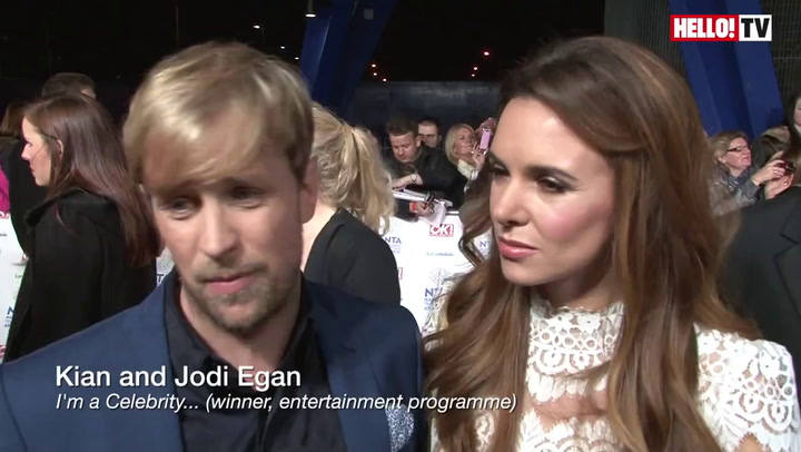 2014 National TV Awards: Kian Egan, Kelly Brook, Caroline Flack, Mark Wright talk to HELLO! on the red carpet