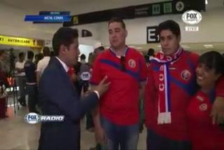 Mexicanos apoyan a Costa Rica y sorprenden a la prensa de su país