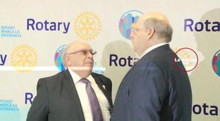 Jorge Canahuati Larach y Diego Pulido Aragón reciben la más alta distinción del Club Rotario