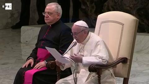 El papa recuerda a Barcelona en la audiencia general