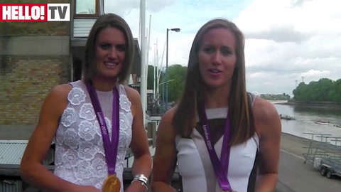 Olympic rowing golden girls glam up for HELLO! shoot