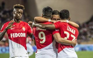 Samuel Grandsir anota el 1-0 del Mónaco ante el Atlético de Madrid