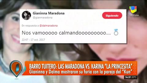 Barro tuitero entre las hermanas Maradona y Karina