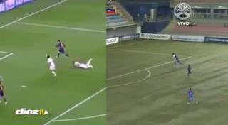 El golazo de Carlos Mejía igualito al de Lionel Messi