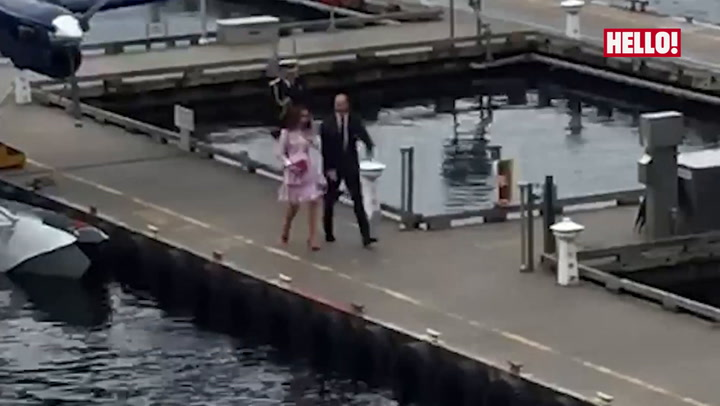 The Cambridges arrive in Vancouver