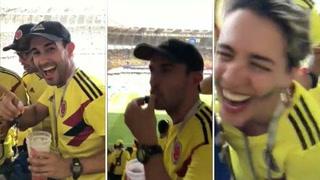 Aficionados de Colombia se las ingenian para colar alcohol en estadios de Rusia