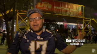 Fans Pick Their Team at Super Bowl LIVE