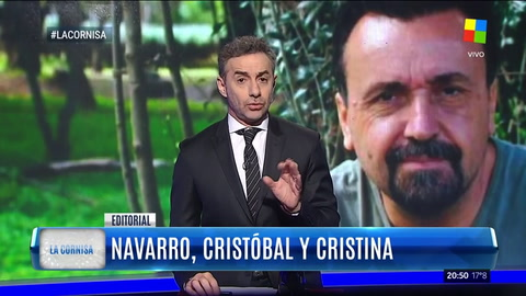 Majul destrozó a Roberto Navarro en su editorial en La Cornisa
