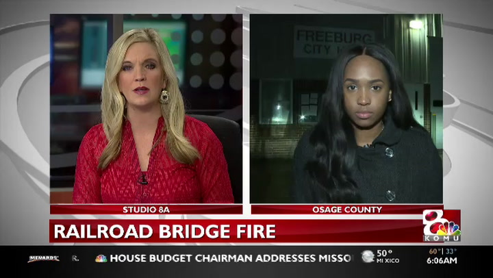 Crews respond to Osage County railroad bridge fire