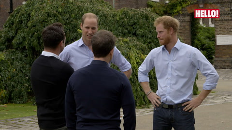 Prince William and Prince Harry talk to Ant and Dec