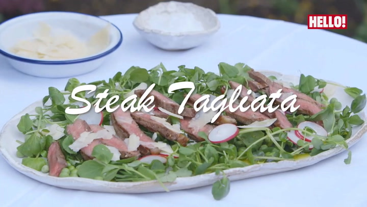 Lisa Faulkner\'s Steak tagliata salad with truffle oil