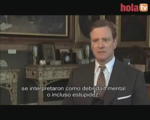Entrevista a Colin Firth, favorito para llevarse el Oscar por \'El discurso del Rey\'