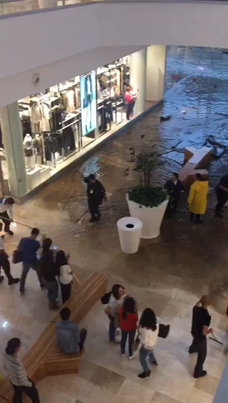 Inundación en Plaza de Zapopan