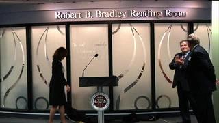 Robert B. Bradley reading room dedication