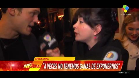 Érica Rivas explotó ante la cámara de Infama