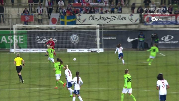Highlights: Lyons kvinder tog første stik mod Wolfsburg!