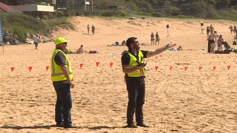 Drones para detectar tiburones