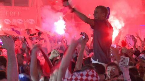 Croatas celebran pase a la final y esperan revancha ante Francia