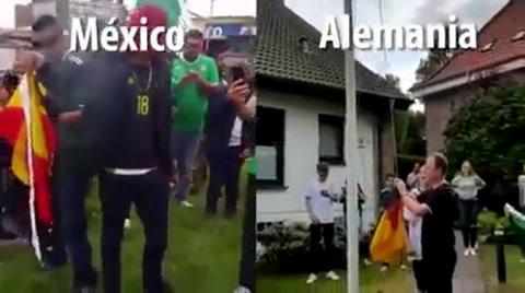 Mexicanos queman bandera alemana; teutones honran la de los aztecas