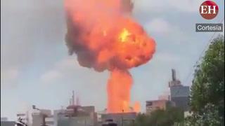 Impresionante: Explosión de gas en edificio tras terremoto en México