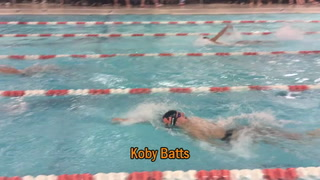 Batts Picks Up Second in Boys 100 Yard Backstroke