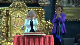 Poniatowska recibe la Presea Sor Juana