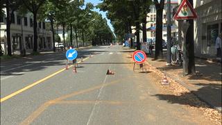 Viale Montegrappa, la protesta dei commercianti