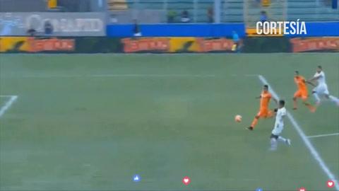 El Olimpia está derrotando 1-0 a la UPNFM en el estadio Nacional