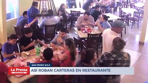 Así roban carteras en restaurante Sampedrano