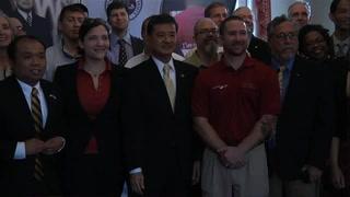 U.S. Secretary of Veterans Affairs Eric K. Shinseki visits Florida State University