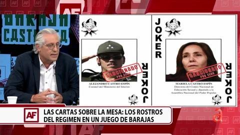 Las cartas sobre la mesa: lo rostros del régimen en un juego de barajas