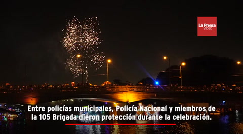 ''Noche Veneciana'' en Puerto Cortés deslumbra con desfile de góndolas
