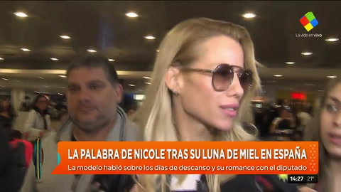 Nicole Neumann habló tras su luna de miel con Facundo Moyano