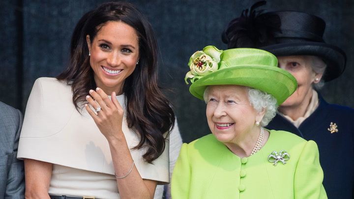 Meghan Markle greeted by the public in Cheshire