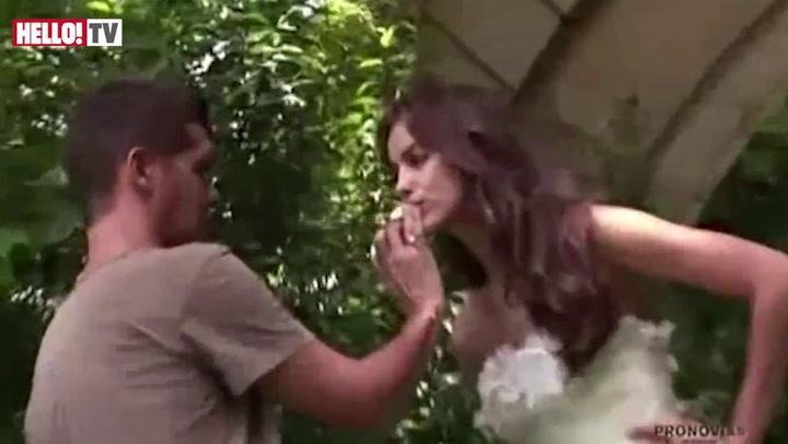 Cristiano Ronaldo's girl Irina Shayk becomes a blushing bride as she models Pronovias' new collection