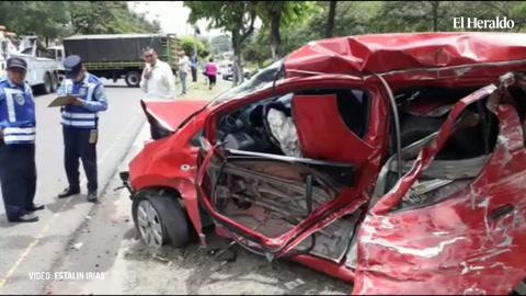 Accidente provoca congestionamiento vial en el bulevar Fuerzas Armadas